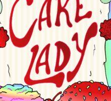 Cake lady Sticker