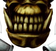 Ork Skull and Stikkbombs Sticker