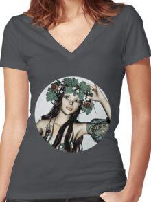 Summer Girl Women's Fitted V-Neck T-Shirt