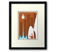 Wall-E Away Framed Print