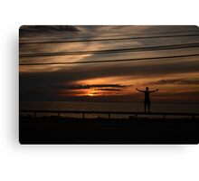 Sunset Boy Canvas Print