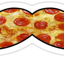 Mustache Pizza Sticker