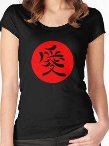 Japanese Kanji for Love Women's Fitted Scoop T-Shirt