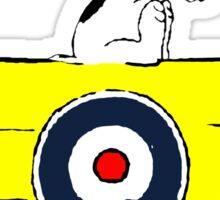 Red Baron vs Snoopy Sticker