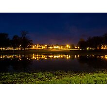 Park Reflections at Night Photographic Print