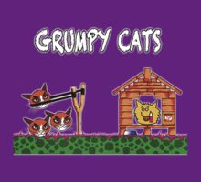Grumpy Cats - T Shirt by BlueShift