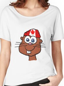 Canada Day Beaver  Women's Relaxed Fit T-Shirt