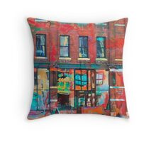 Big Brain Colored Wall Throw Pillow