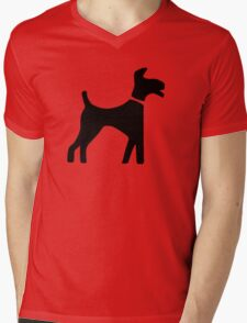 Dog Symbol Mens V-Neck T-Shirt