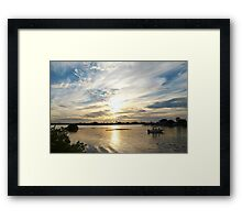 Boating beauty in wide view Framed Print