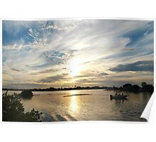Boating beauty in wide view Poster