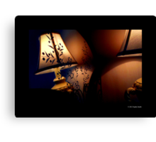Antique Lamp Reflection In The Mirror Canvas Print