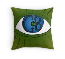 When the G8 Meets The Eye Sees All Throw Pillow