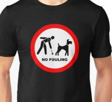 No Dog Fouling Symbol Unisex T-Shirt