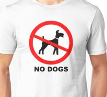 No Dogs Symbol Unisex T-Shirt