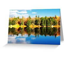 Parker Dam - autumn reflections (2012) Greeting Card