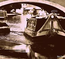 Canal Barge at Leigh, Near Manchester, UK. by Stan Owen