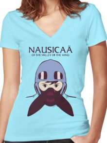 Nausicaå of the Valley of the Wind Women's Fitted V-Neck T-Shirt