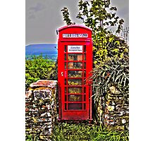 Phone Box in Rural England Photographic Print