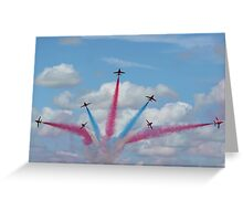 Red Arrows 03 Greeting Card