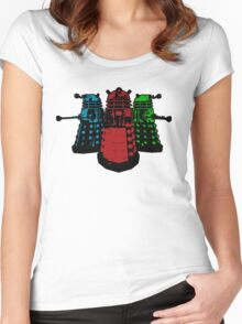 Pop Daleks Women's Fitted Scoop T-Shirt