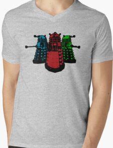 Pop Daleks Mens V-Neck T-Shirt