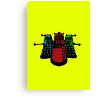 Pop Daleks Canvas Print