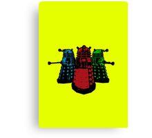 Pop Daleks Canvas Print