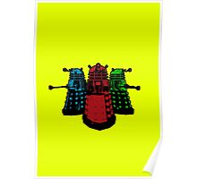 Pop Daleks Poster