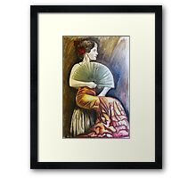 'Flamenco Fan' Framed Print