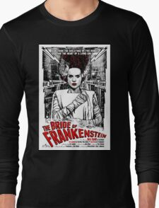 Bride of Frankenstein. Elsa Lanchester. Movie. Horror.  Long Sleeve T-Shirt