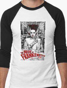 Bride of Frankenstein. Elsa Lanchester. Movie. Horror.  Men's Baseball ¾ T-Shirt