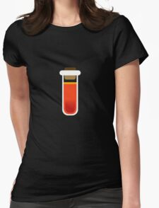 Color tubes Red Womens Fitted T-Shirt