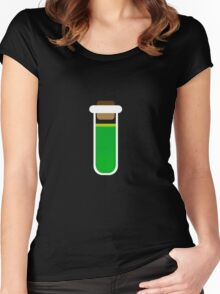 Color tubes Green Women's Fitted Scoop T-Shirt