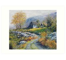 path into the Black Valley Art Print