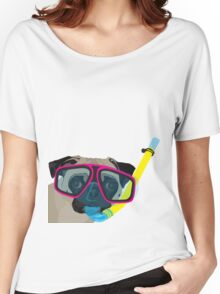 Snorkel Pug, Snorkel Pug! Does whatever a snorkel pug does!!! Women's Relaxed Fit T-Shirt