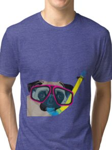 Snorkel Pug, Snorkel Pug! Does whatever a snorkel pug does!!! Tri-blend T-Shirt
