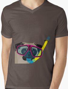 Snorkel Pug, Snorkel Pug! Does whatever a snorkel pug does!!! Mens V-Neck T-Shirt