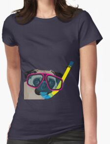 Snorkel Pug, Snorkel Pug! Does whatever a snorkel pug does!!! Womens Fitted T-Shirt