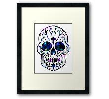 Nebula Skull Framed Print
