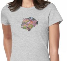 Sunny Daylilly Womens Fitted T-Shirt