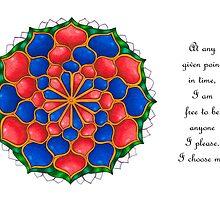 Vivian 1 Mandala Card w/Message by TheMandalaLady