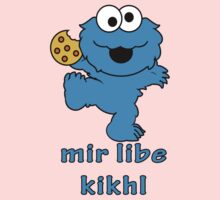 cookie monster in Yiddish One Piece - Long Sleeve