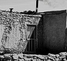 ACOMA PUEBLO HOUSE IN WINTER by Thomas Barker-Detwiler