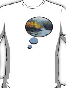 Original Landscape Painting - Autumn Falls T-Shirt