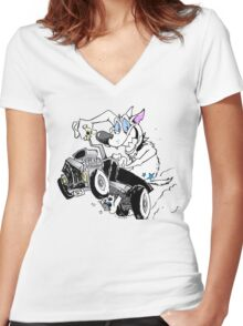 Sirius Ride  Women's Fitted V-Neck T-Shirt
