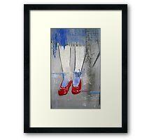 """""""Ruby Slippers"""" Framed Print"""