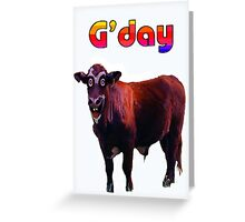 STANLEY BULL Greeting Card