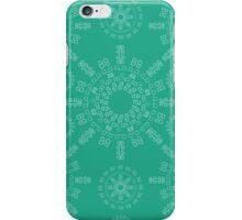Monogram pattern (B) in Emerald iPhone Case/Skin