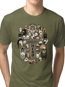 Helmets of fandom - respect the head! Tri-blend T-Shirt